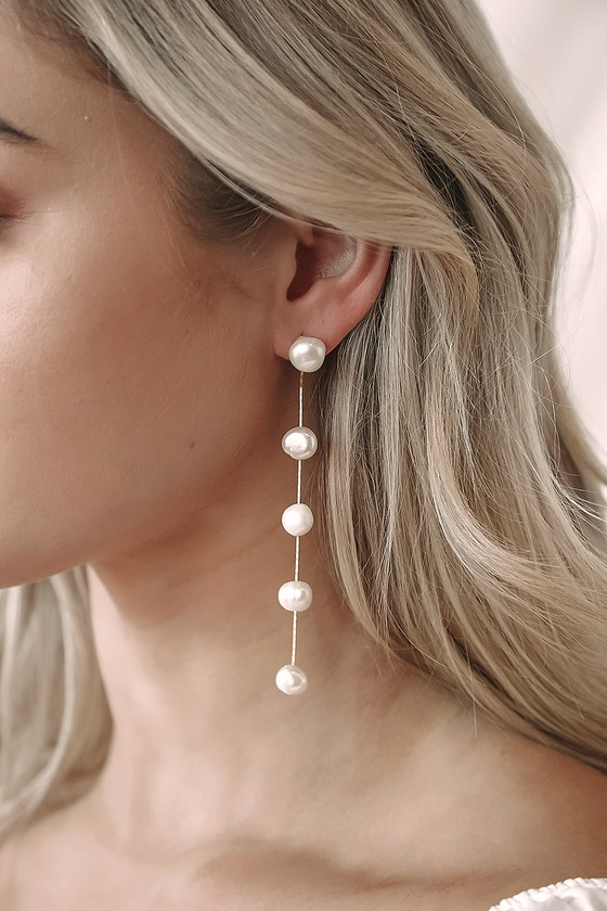 Camilla 14KT Gold Pearl Drop Earrings