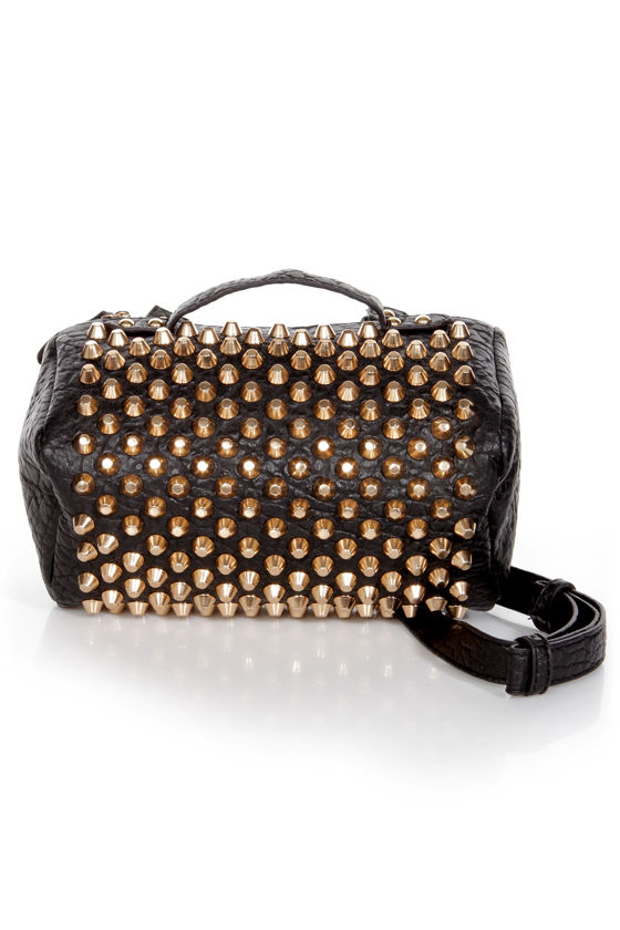 Rough Rider Studded Black Purse at Lulus.com!