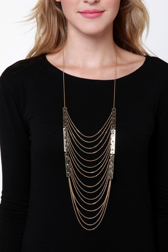 Shield of Dreams Gold Necklace