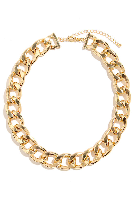 Best of All Gold Chain Necklace at Lulus.com!