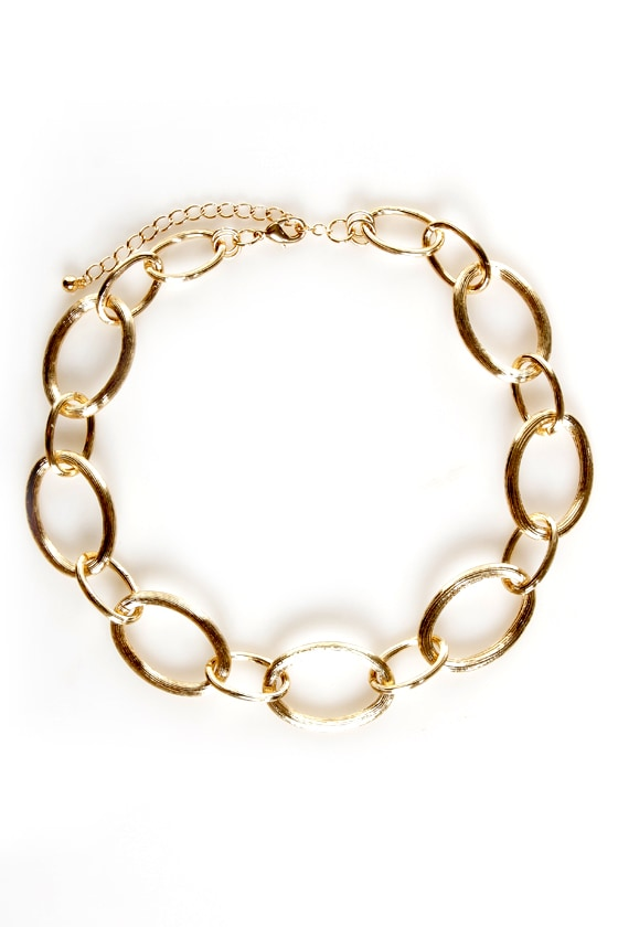 Loop Troupe Gold Chain Collar Necklace
