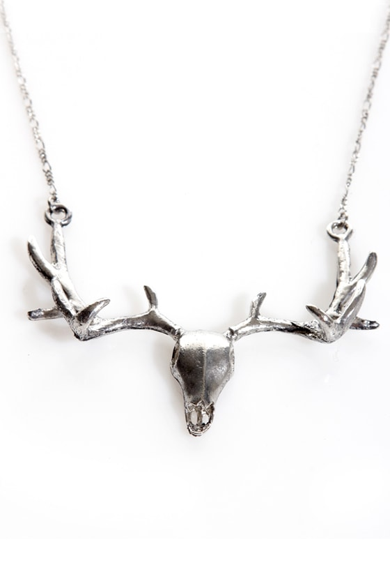 Stag Party Silver Necklace