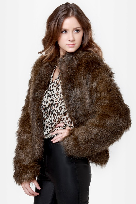 Somedays Lovin' Party Boy Jacket - Brown Jacket - Cropped Jacket ...