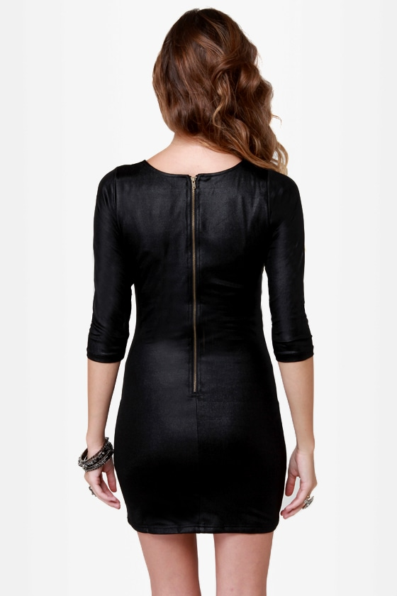 Mink Pink Twister Sister Black Dress at Lulus.com!