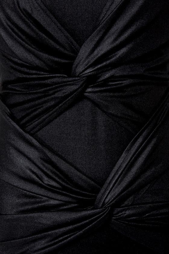 Mink Pink Twister Sister Black Dress