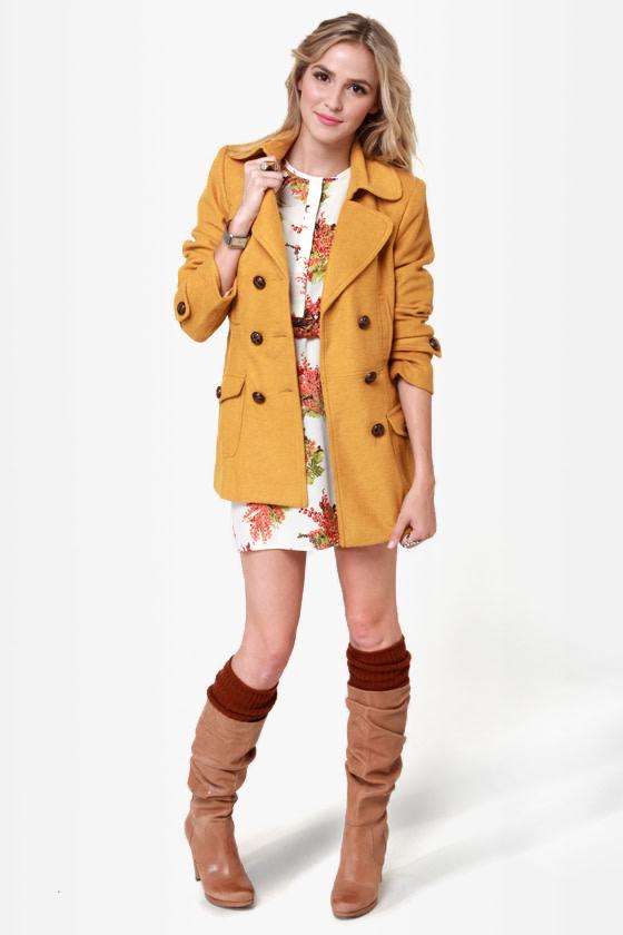 Bundle Me Up Mustard Yellow Coat