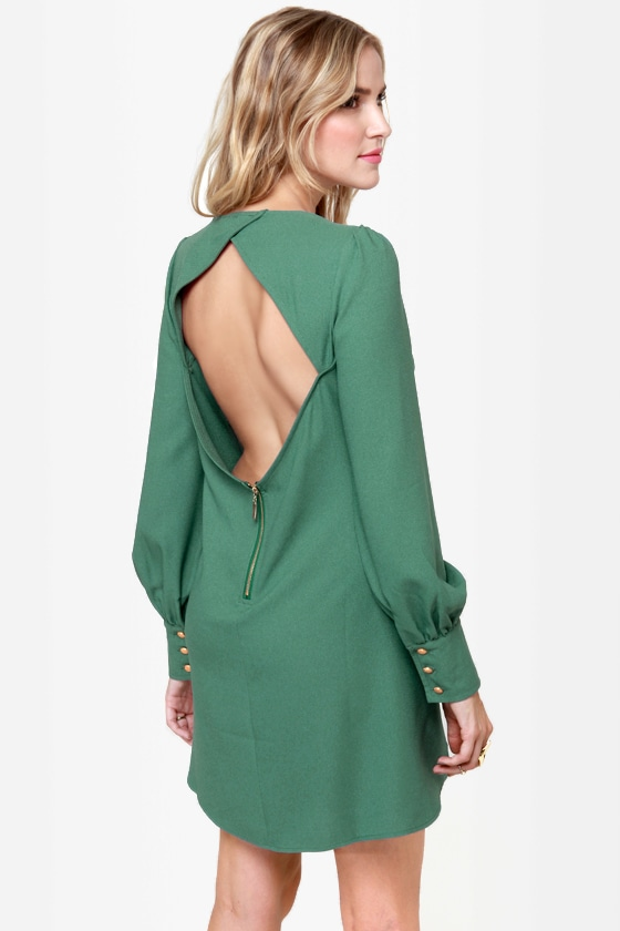 Sherry Baby Sage Green Shift Dress