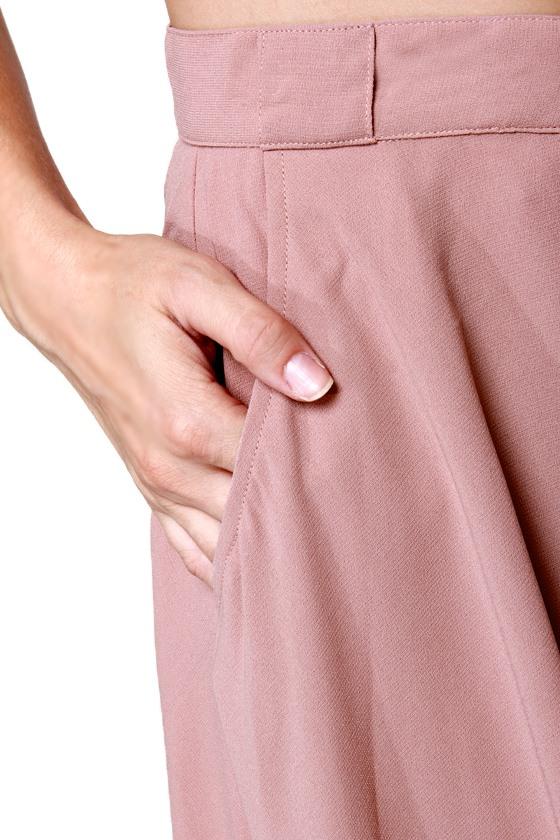 Blushing Barrista Blush Midi Skirt