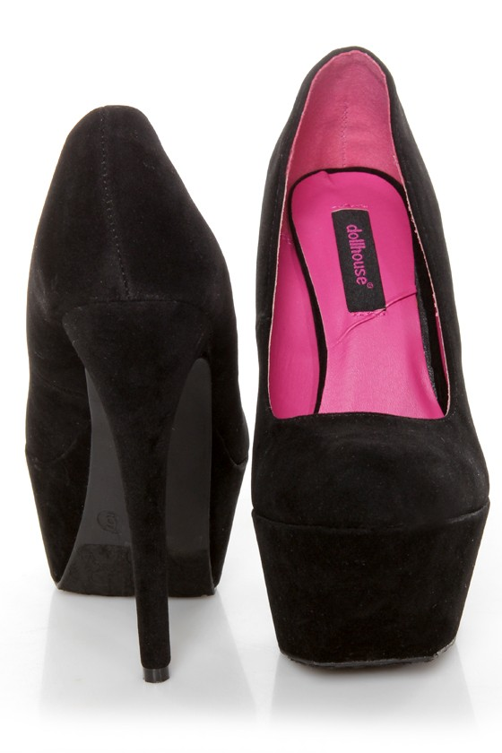 Dollhouse Kammy Black Super Platform Heels