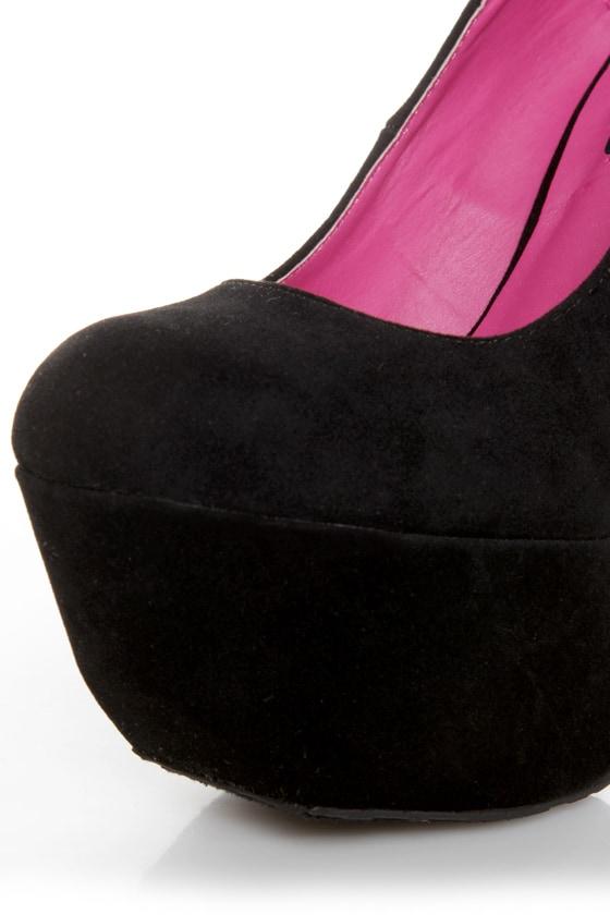 Dollhouse Kammy Black Super Platform Heels at Lulus.com!