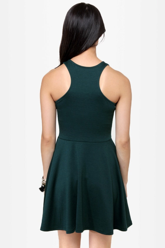 LULUS Exclusive Front and Center Dark Green Dress at Lulus.com!