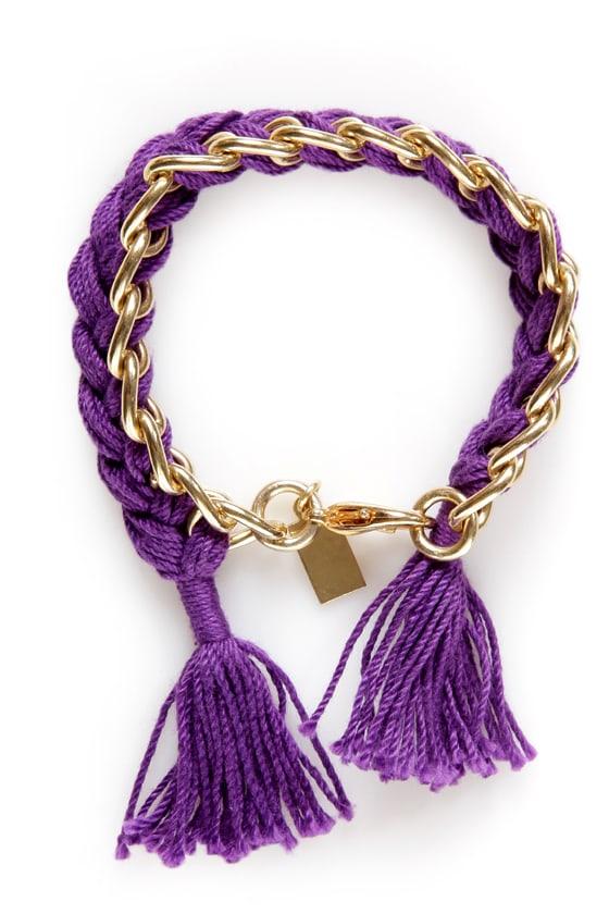 Braiders of the Lost Spark Purple Friendship Bracelet