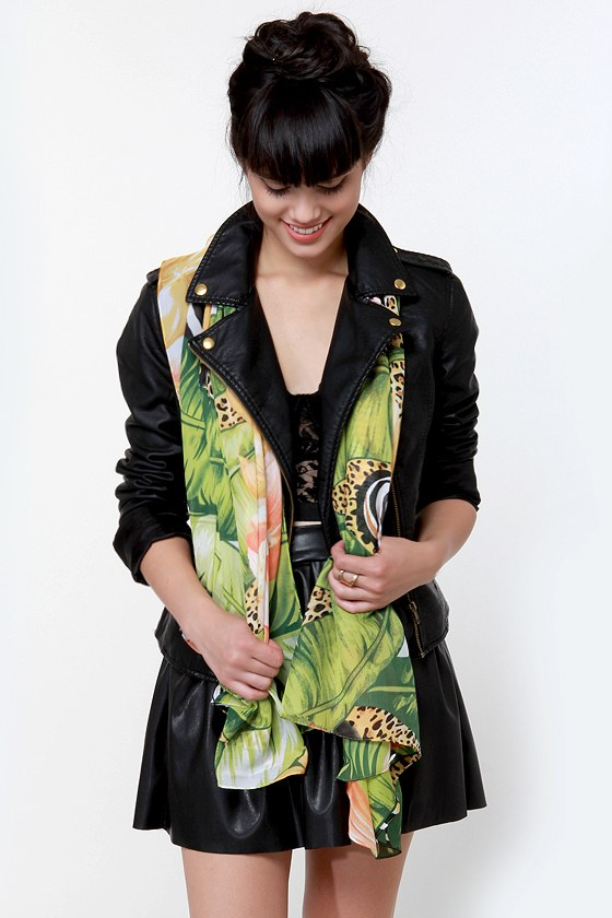 Journey Through the Jungle Print Scarf at Lulus.com!