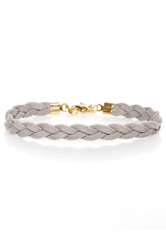 Made to Braid Grey Bracelet at Lulus.com!