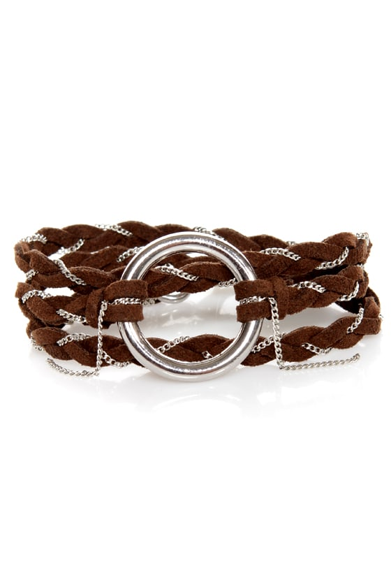 Thrice as Nice Brown Wrap Bracelet at Lulus.com!