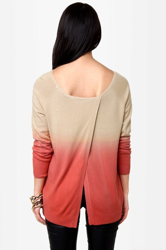 Sunrise, Sunset Beige Ombre Sweater at Lulus.com!