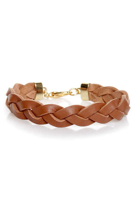 Rock and Wrist Braided Leather Bracelet at Lulus.com!