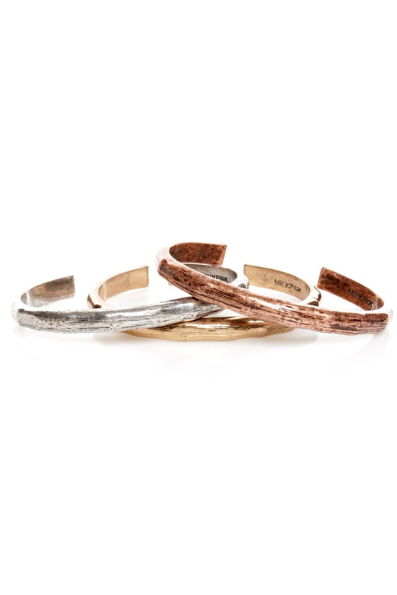 Mink Pink Three's a Charm Bangle Set