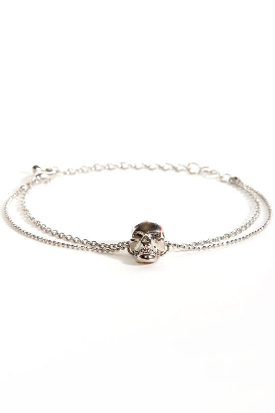 No Bones About it Skull Bracelet at Lulus.com!