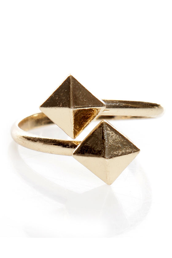Stud-zilla Gold Studded Ring at Lulus.com!