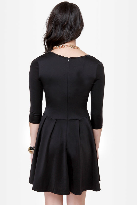 In The Moment Black Skater Dress at Lulus.com!