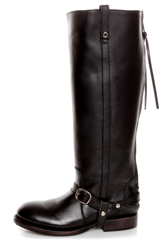 Zigi Girl Bandit Black Belted Knee High Riding Boots