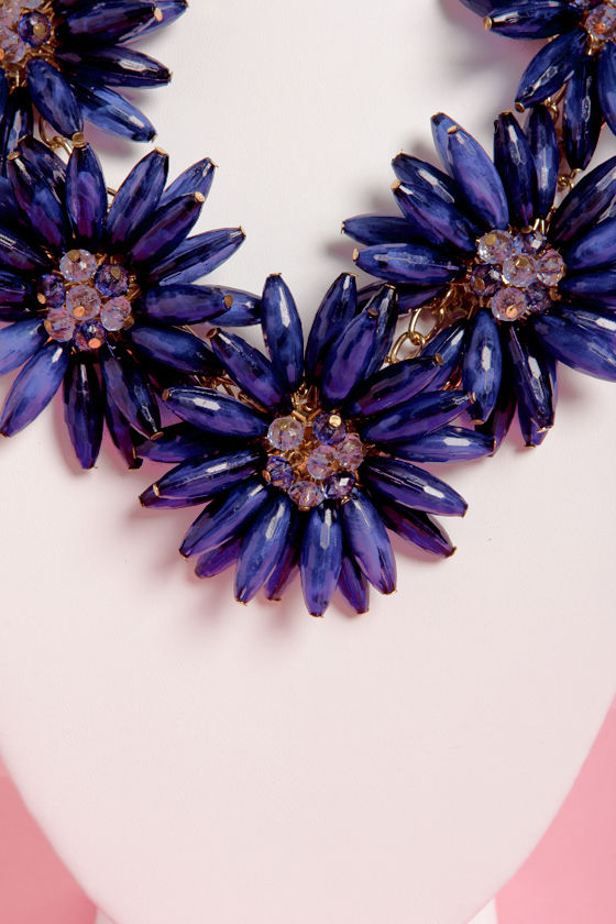 Pocketful of Posies Blue Statement Necklace at Lulus.com!