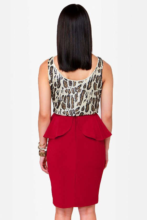 Make Your Presents Known Red Pencil Skirt at Lulus.com!
