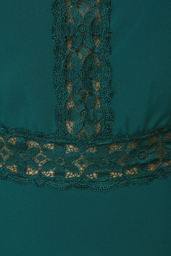 Forty Day Dream Teal Lace Dress at Lulus.com!
