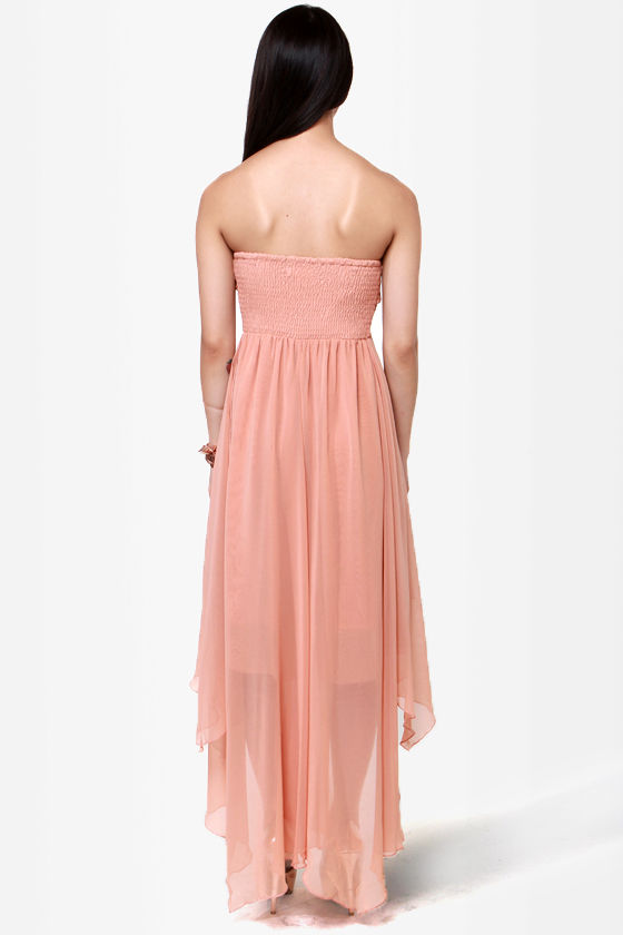 I'm Your Lady Blush Pink Strapless Dress at Lulus.com!