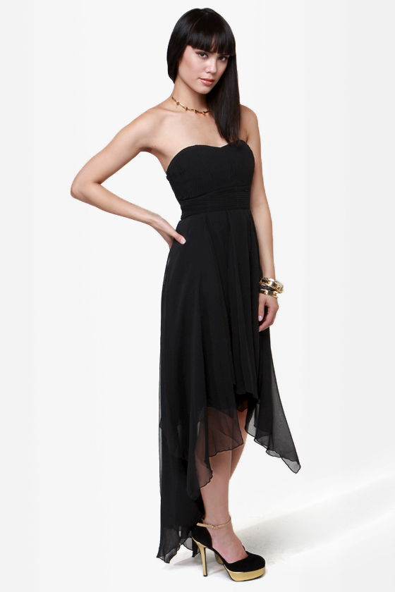 I'm Your Lady Strapless Black Dress at Lulus.com!