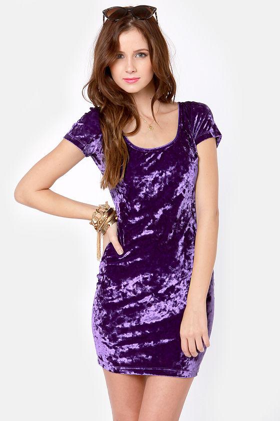 Purple Velvet Dresses