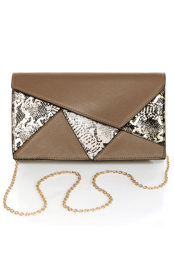 Reptile Rookie Grey Snakeskin Clutch at Lulus.com!