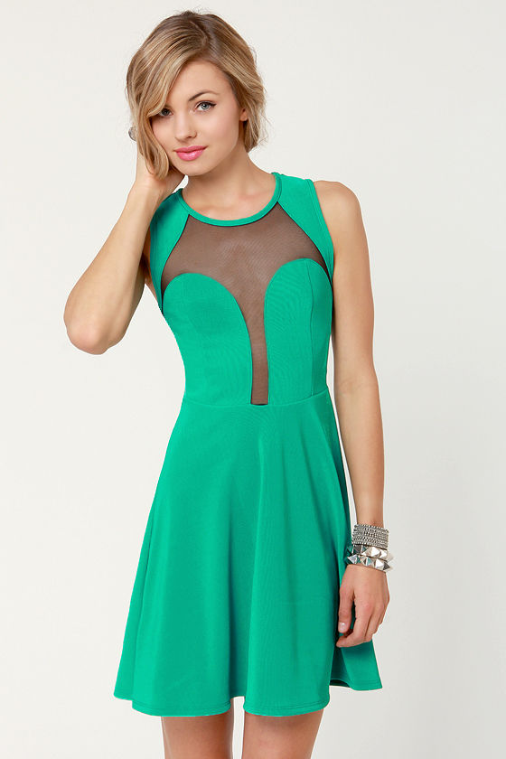 See You Through Green Cutout Dress at Lulus.com!