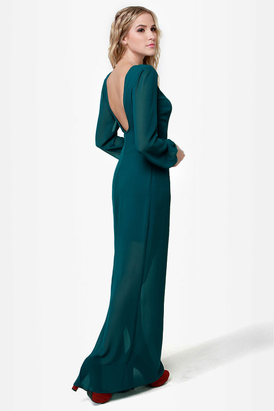 Rubber Ducky All You Can Sheath Teal Maxi Dress at Lulus.com!