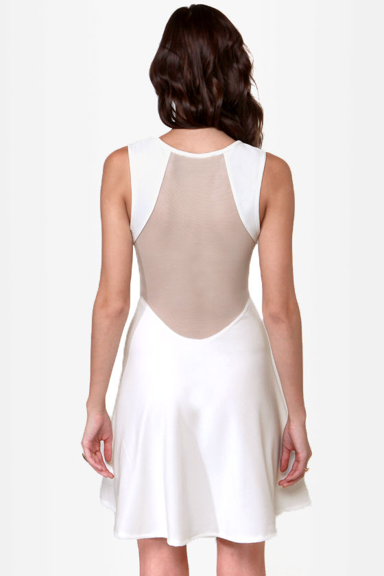 See You Through Ivory Cutout Dress at Lulus.com!