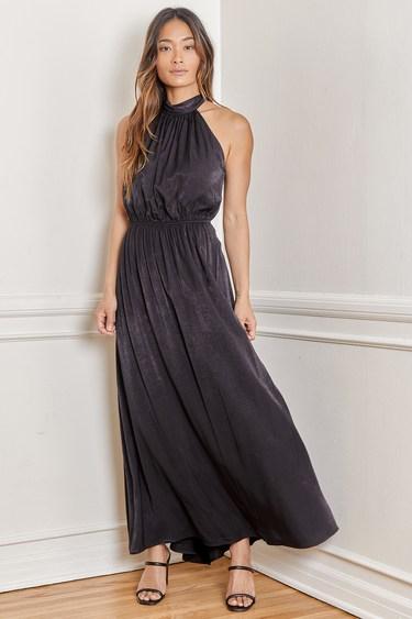 My Dearest Love Black Halter Maxi Dress