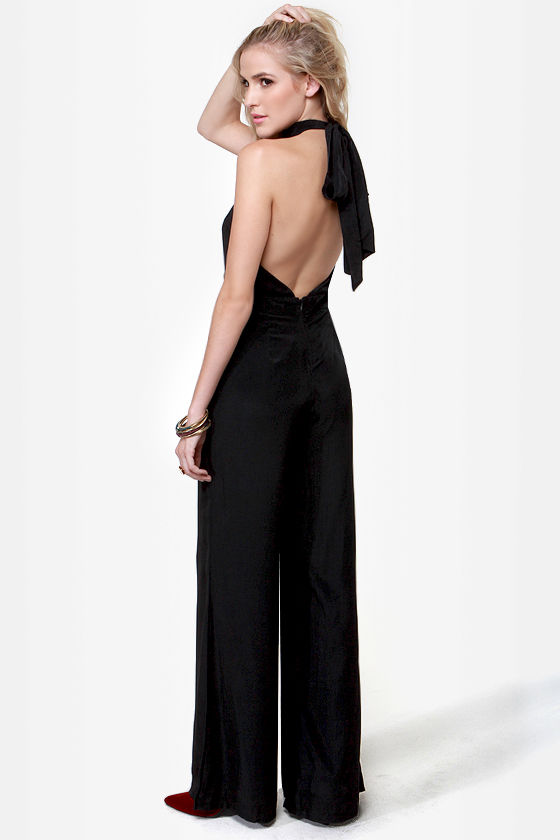 Bust a Move Black Jumpsuit at Lulus.com!