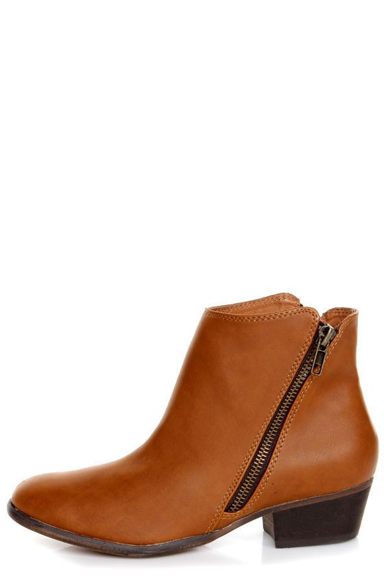 Chelsea Crew Dundy Tan Double Zipper Ankle Boots at Lulus.com!