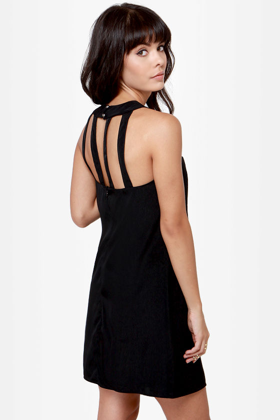 Passing the Bars Black Shift Dress at Lulus.com!