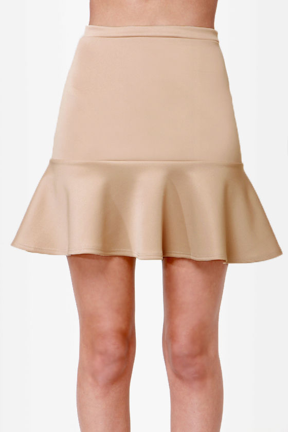 Flute-y Pie Beige Mini Skirt at Lulus.com!