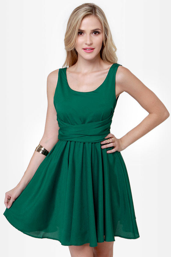 Tie Me a River Green Dress at Lulus.com!