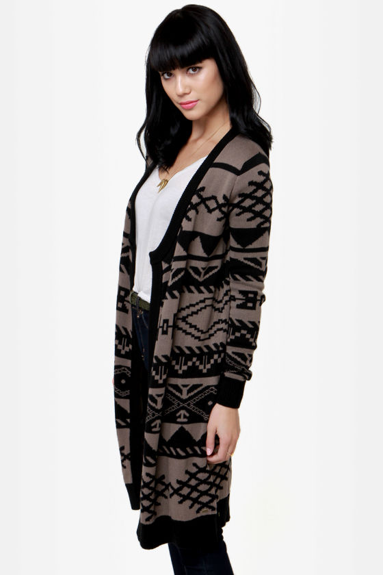 O'Neill Cosby Black and Taupe Sweater at Lulus.com!
