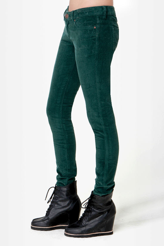 O'Neill Sophie Dark Green Corduroy Pants at Lulus.com!