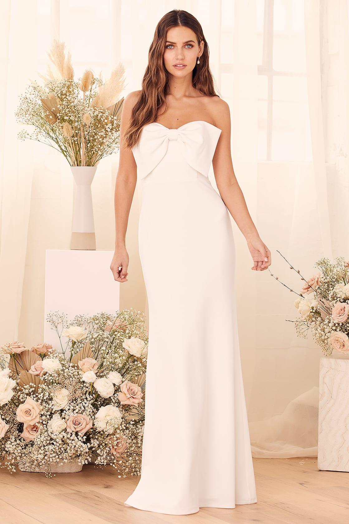 I'll Love You Forever White Strapless Maxi Dress