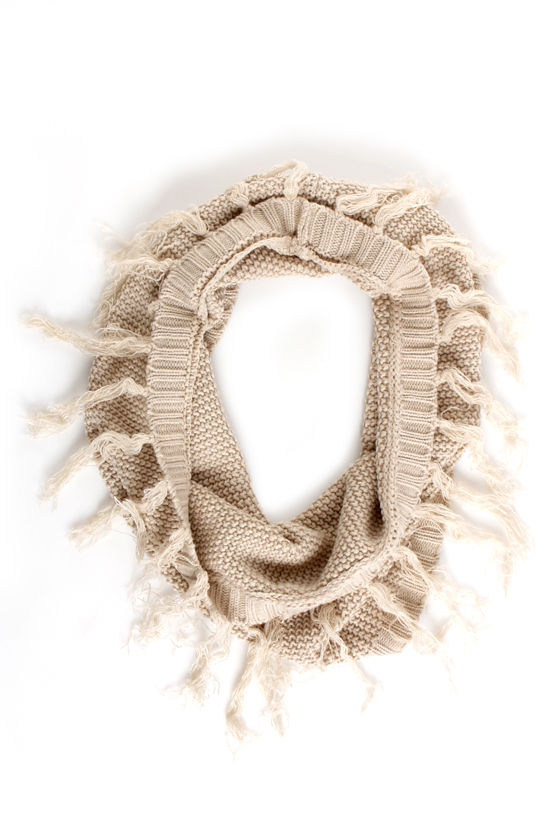 The Circle Scarf of Life Beige Infinity Scarf at Lulus.com!