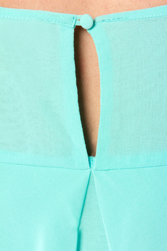 Domestic Goddess Mint Blue Shift Dress at Lulus.com!