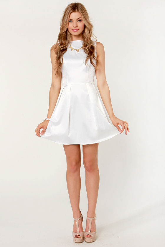 In Good Taste Ivory Satin Dress at Lulus.com!