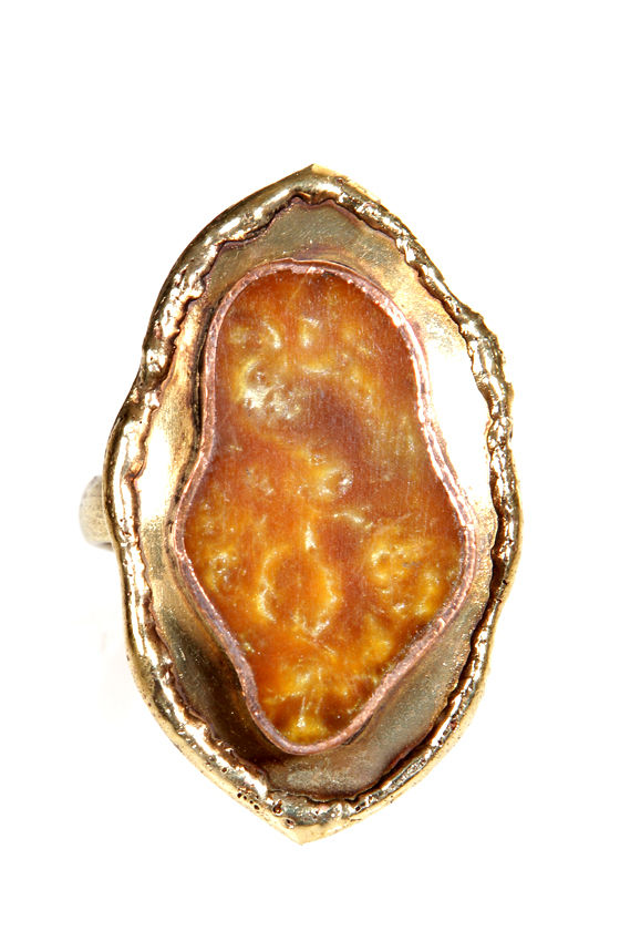 Zad Yellow Agate Ring at Lulus.com!