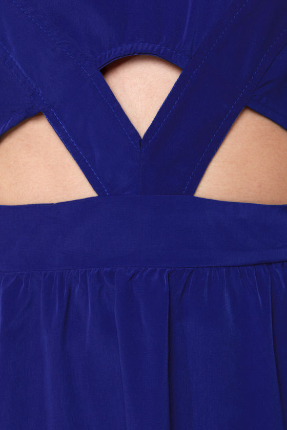 Prime Cuts Royal Blue High-Low Dress at Lulus.com!